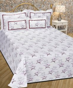 Kritarth Handicrafts Double Bed Bedsheet With Two Pillow Cum Cushion And Two Pillow Cover
