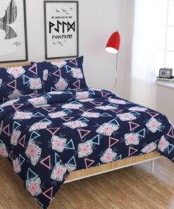 Buy Blue Color Super King Size Bedsheets