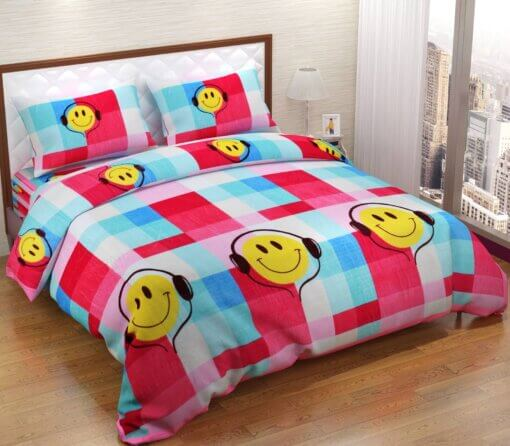 Buy Warm Fleece Bedsheets For Winter With 2 Pillow Covers