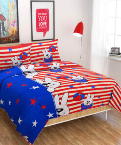Double Bed Kids Bedsheet